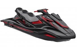 Гидроцикл YAMAHA FX Cruiser SVHO - Carbon Metallic with Torch Red '2019-2020