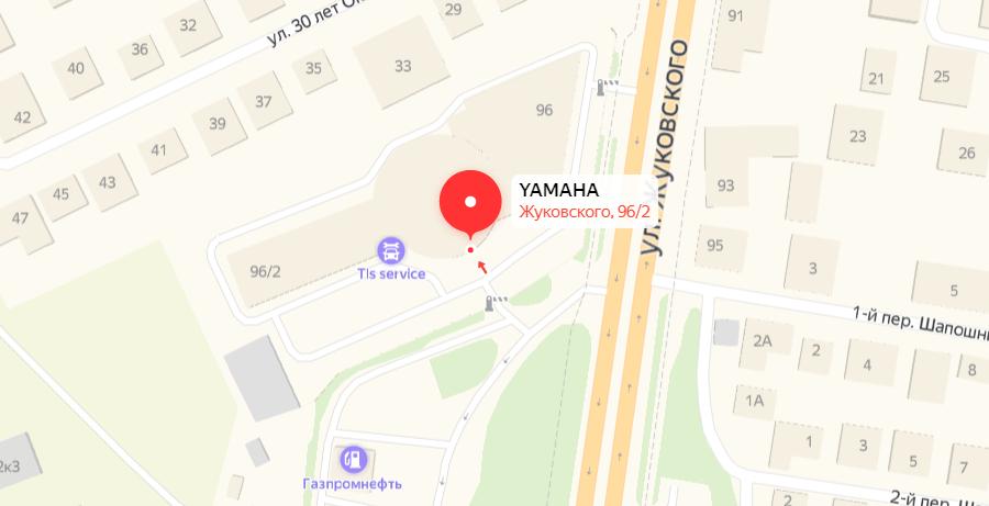 Адрес ЯМАХА-МОТОРРИКА в Новосибирске