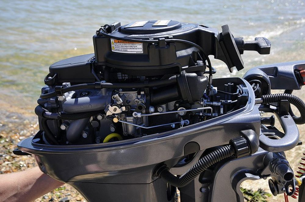 Двигатель подвесного мотора ЯМАХА 9.9 GMHS -  2х тактный 9.9 лошадиных сил
